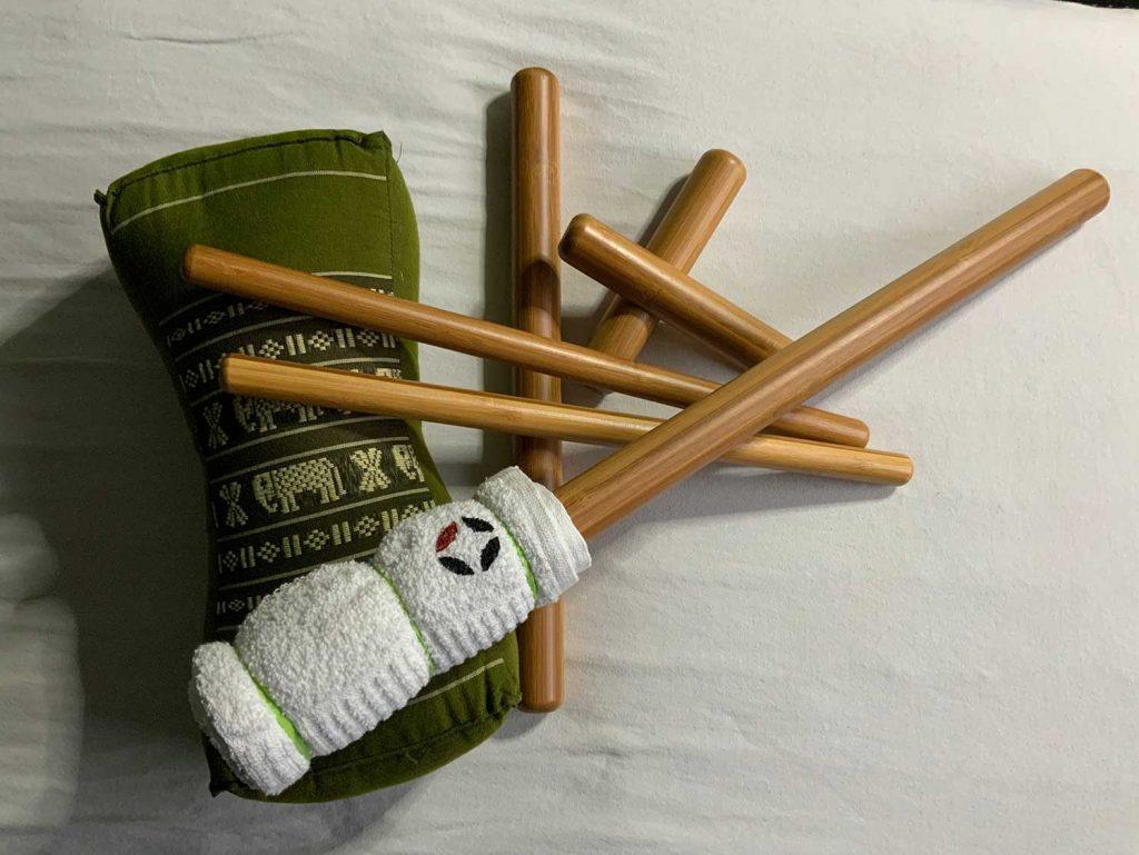 Bambus massage fra Av Min Krop